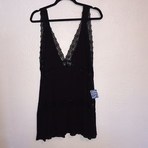 Intimately Free People Black Lace Babydoll Dress S